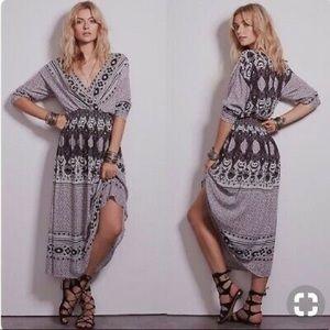 FREE PEOPLE Reversible boho She's A Lady dress S